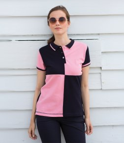 Buy a wonderful, personalised Lady Fit Quartered Polo from the PS Clothing online shop
