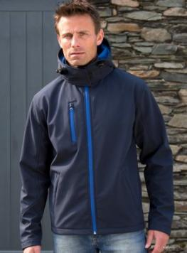 Buy a wonderful, personalised Mens Soft Shell Jacket with Hood. from the PS Clothing online shop