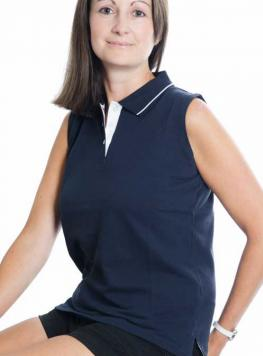 Buy a wonderful, personalised Sleeveless Ladies Polo Shirt from the PS Clothing online shop