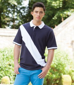 Buy a wonderful, personalised Stripe Contrast Polo from the PS Clothing online shop